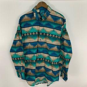 Vintage Roper Aztec Button Down Shirt